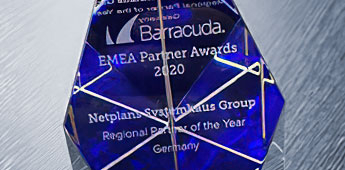 NetPlans ist Barracuda Regional Partner of the Year - Germany